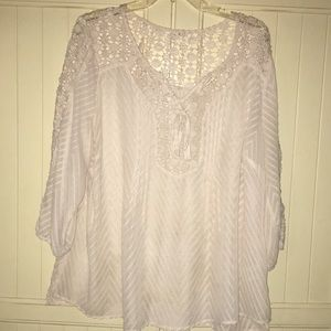 Elegant top w lace trim
